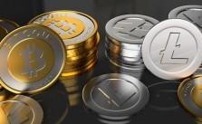 Litecoin-vs-Bitcoin-coins-gold-silver