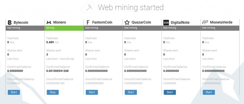 phần mềm đào coin minergate