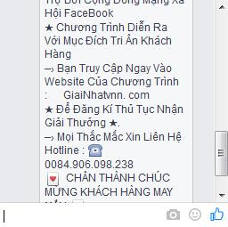 tin nhan lua dao facebook