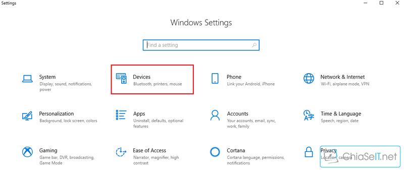 Thiết lập chuột cho người sử dụng tay trái trên Windows 10